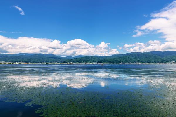 諏訪湖の風景