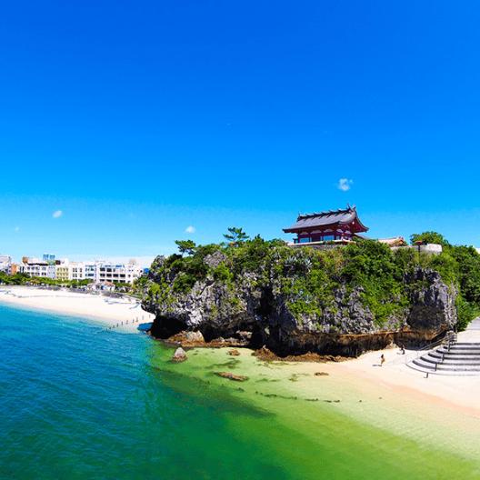 沖縄波の上ビーチ観光